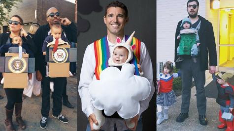 Những ý tưởng hóa trang Halloween hài hước cho phụ huynh và các nhóc