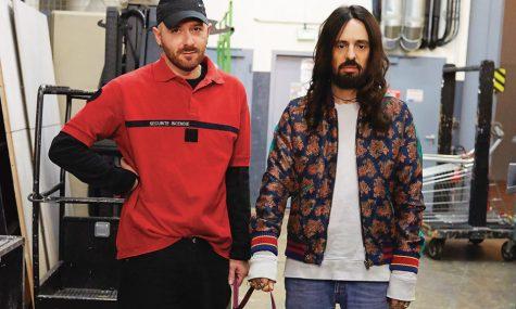 Demna Gvasalia, giám đốc sáng tạo của Balenciaga (trái) và Alessandro Michele, giám đốc sáng tạo của Gucci (phải).