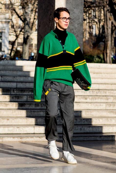 ELLE Man Style Calendar Đa phong cách với áo len cổ lọ (412 – 10122017) elle man12