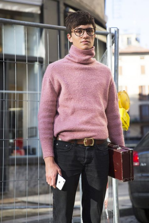 ELLE Man Style Calendar Đa phong cách với áo len cổ lọ (412 – 10122017) elle man13