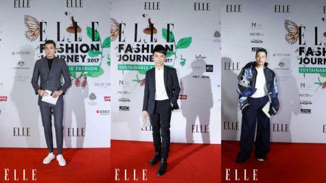 Hoàng Rob, Mai Tiến Dũng, Quang Đại, ST, Châu Đăng Khoa ấn tượng tại thảm đỏ ELLE Fashion Show 2017