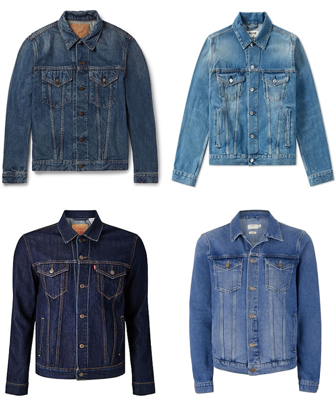 12 item thoi trang- denim jacket- elle man