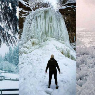 Ảnh đẹp của khu vực Bắc Mỹ trong mùa băng giá 2018