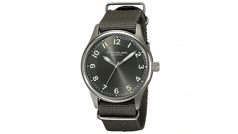 Dong ho nam - Stuhrling-Original-Mens-741.SET02-Aviator-Stainless-Steel-Watch- elle man