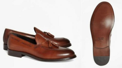 12 thuong hieu giay loafer nam Brooks Brothers 1818 Footwear Leather Tassel Loafers GBP 280 - elle man