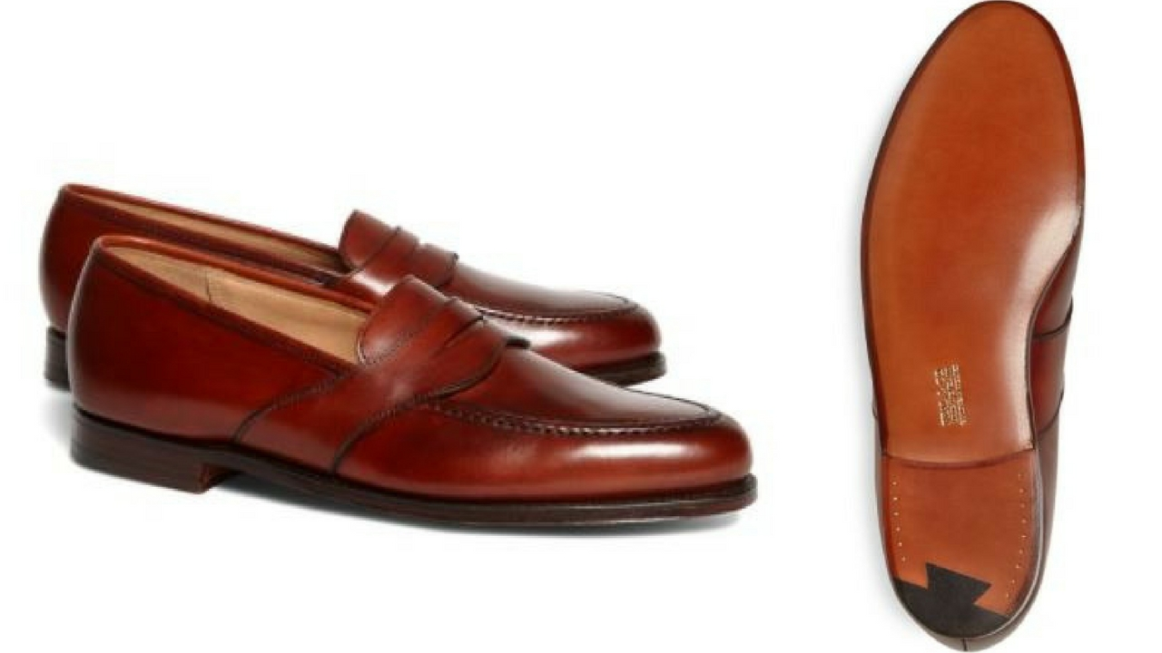 12 thuong hieu giay loafer nam Brooks Brothers Peal & Co.® Extended Strap Loafers GBP530 - elle man
