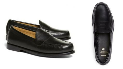 12 thuong hieu giay loafer nam Brooks Brothers classic penny Loafers GBP180 - elle man