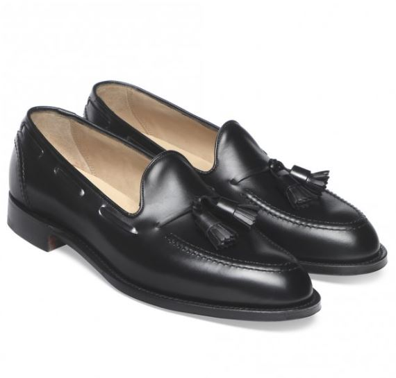 12 thuong hieu giay loafer nam Cheaney Harry Tassel Loafer in Black calf leather GBP292 - elle man 1
