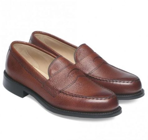 12 thuong hieu giay loafer nam Cheaney Howard R Loafer in Mahogany Grain Leather GBP292 - elle man 1
