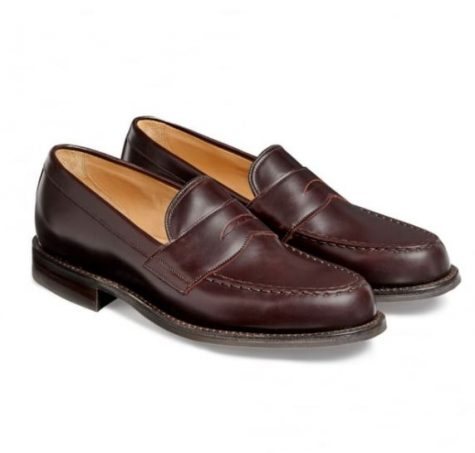 12 thuong hieu giay loafer nam Cheaney Howard R Loafer in burfundy coaching calf Leather GBP292 - elle man 1
