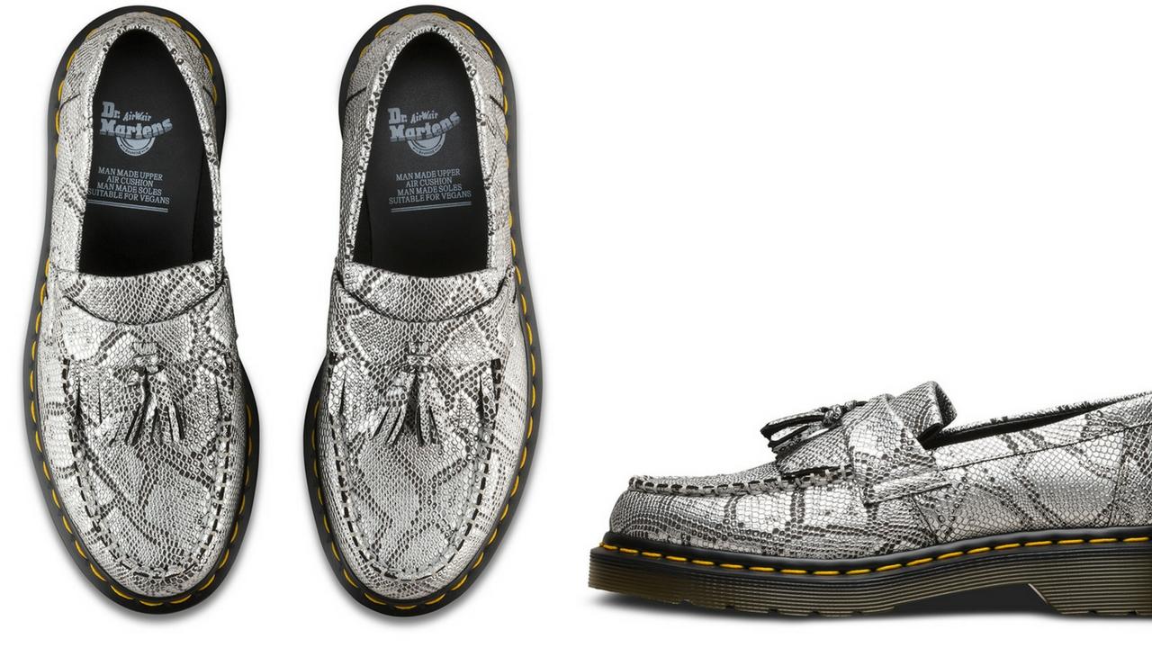 12 thuong hieu giay loafer nam Dr Martens VEGAN ADRIAN METALLIC GBP 120 - elle man
