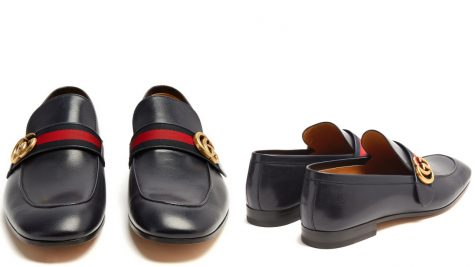 12 thuong hieu giay loafer nam GUCCI donnie GG leahter loafers - elle man