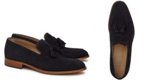 12 thuong hieu giay loafer nam Reiss suede tasseled loafers GBP 75 - elle man