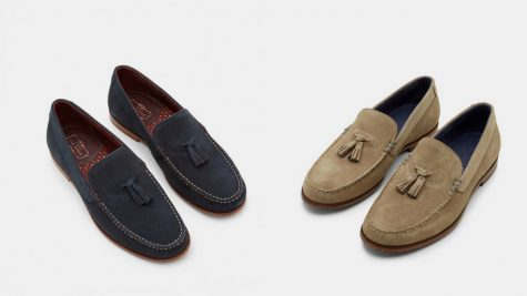 12 thuong hieu giay loafer nam Ted baker DOUGGE Tassel Suede Moccasins GBP 115 - elle man