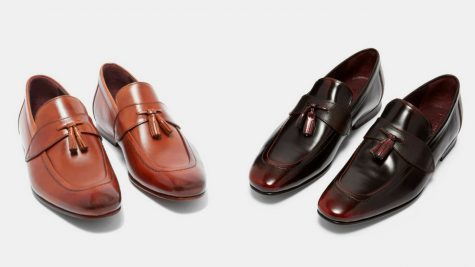 12 thuong hieu giay loafer nam Ted baker GRAFIT tassel leather loafer GBP 130 - elle man