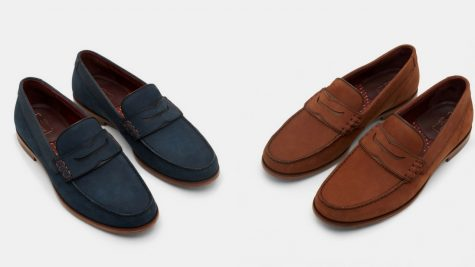 12 thuong hieu giay loafer nam Ted baker MIICKE3 Nubuck Suede loafers GBP 115 - elle man