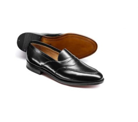 12 thuong hieu giay loafer nam charles tyrwhitt black goodyear welted saddle loafer 5,6mil VND- elle man 1