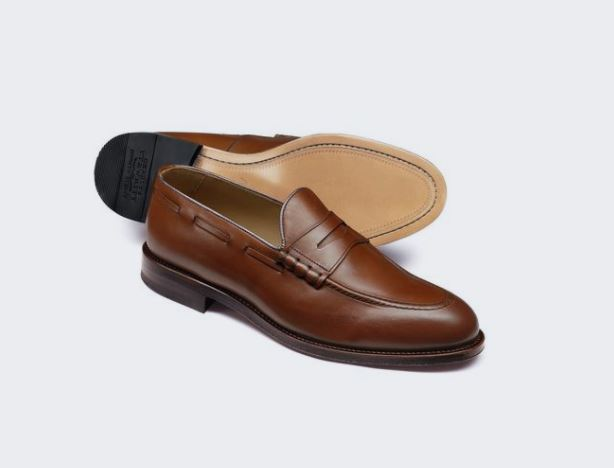12 thuong hieu giay loafer nam charles tyrwhitt tan penny loafer 5,6mil VND - elle man 1