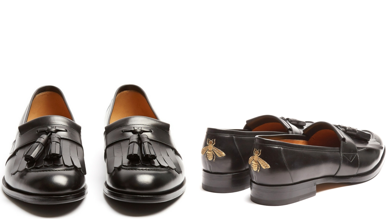 12 thuong hieu giay loafer nam gucci Tassel leather loafers £533 - elle man