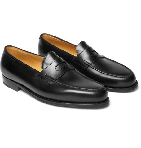 12 thuong hieu giay loafer nam john lobb lopez leather penny loafers GBP 895 - elle man