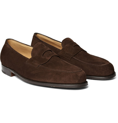 12 thuong hieu giay loafer nam john lobb lopez suede penny loafers GBP 895 - elle man
