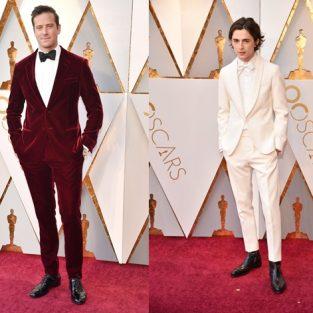 """Oscar 2018 và """"cuộc chiến"""" phong cách thảm đỏ sao nam"""