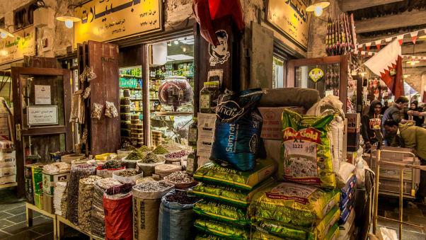 du lịch Qatar - Khu mua sắm Souq Waqif là một thị trường kinh doanh thịnh vượng