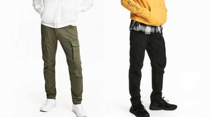 quần dài nam - quần cargo H&M 1.1 - elle man