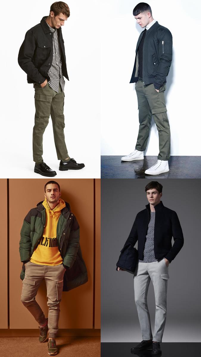 quần dài nam - quần cargo - elle man