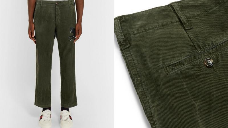 quần dài nam - quần corduroy Gucci 1.1 - elle man