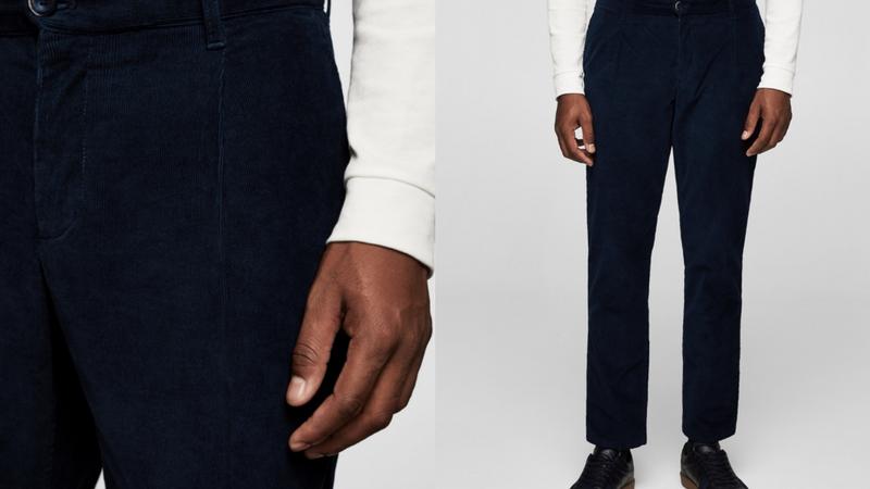 quần dài nam - quần corduroy Mango Man 1.1 - elle man