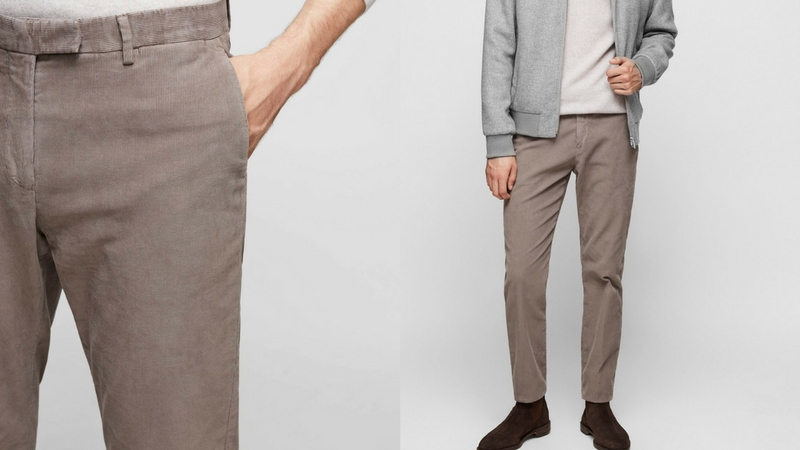 quần dài nam - quần corduroy Reiss 1.1 - elle man