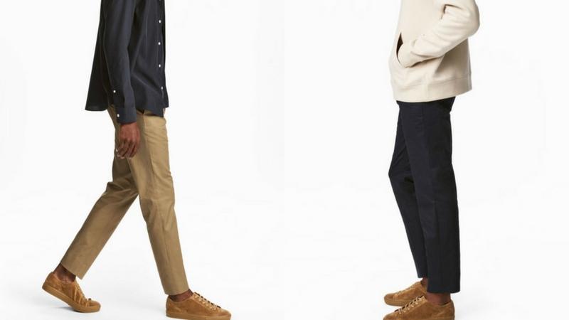 quần dài nam - quần cropped H&M 1.1 - elle man