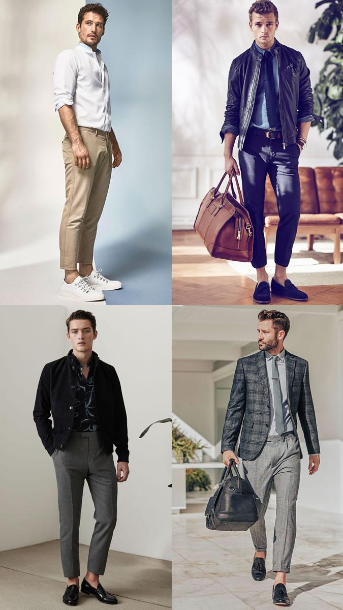 quần dài nam - quần cropped - elle man