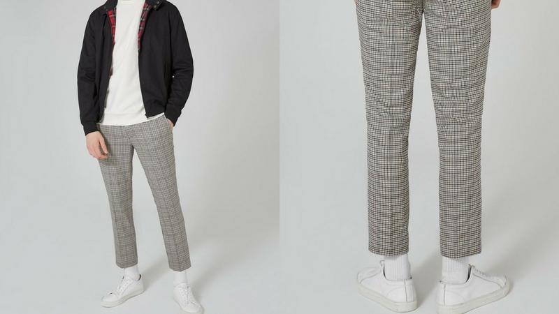 quần dài nam - quần cropped topman 1.1 - elle man