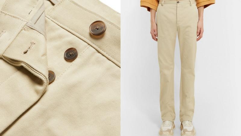 quần dài nam - quần twill chinos Balenciaga 1.1 - elle man