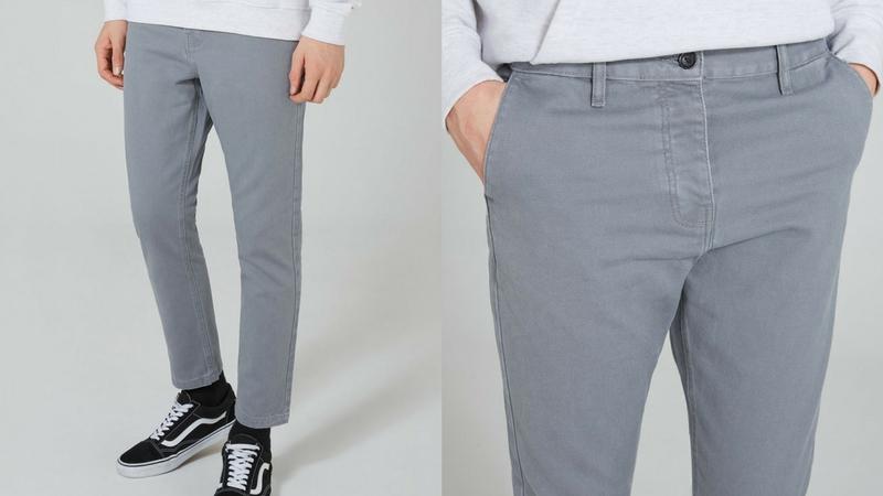 quần dài nam - quần twill chinos Topman 1.1 - elle man