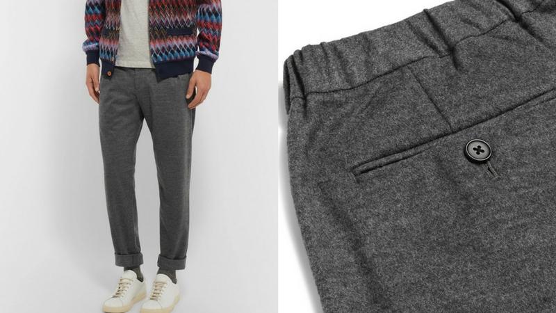quần dài nam - quần wool Camoshita 1.1 - elle man