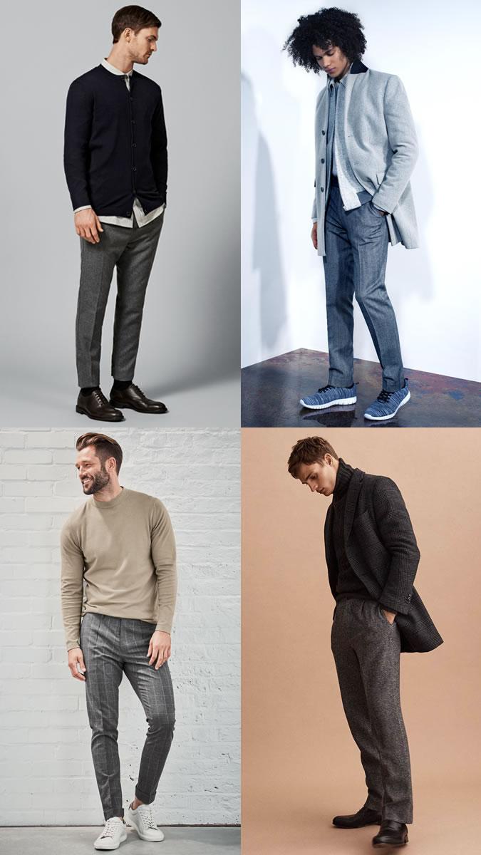 quần dài nam - quần wool - elle man