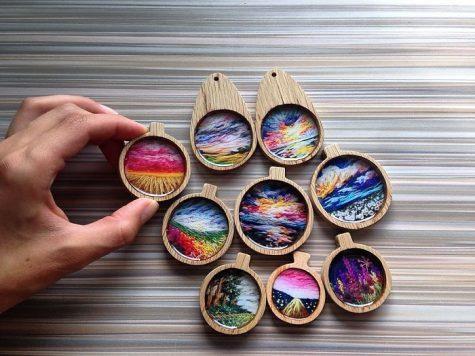 Ngắm nhìn loạt tác phẩm tranh thêu tay tuyệt đẹp như tranh sơn dầu