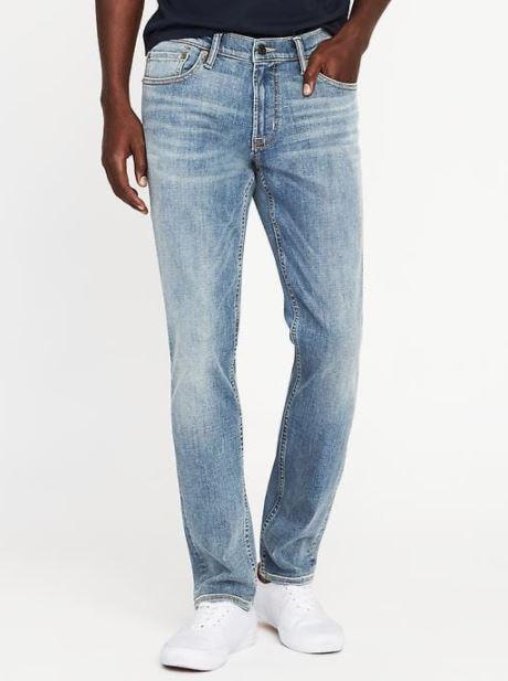 xu hướng thời trang hè 2018 old navy - skinny built-in flex max jeans - elle man 1
