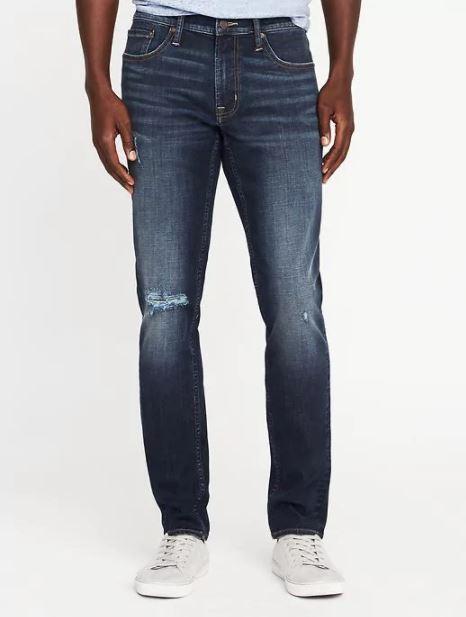 xu hướng thời trang hè 2018 old navy - skinny built-in flex max jeans - elle man 2