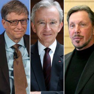 Danh sách 10 tỷ phú giàu nhất thế giới đầu năm 2018