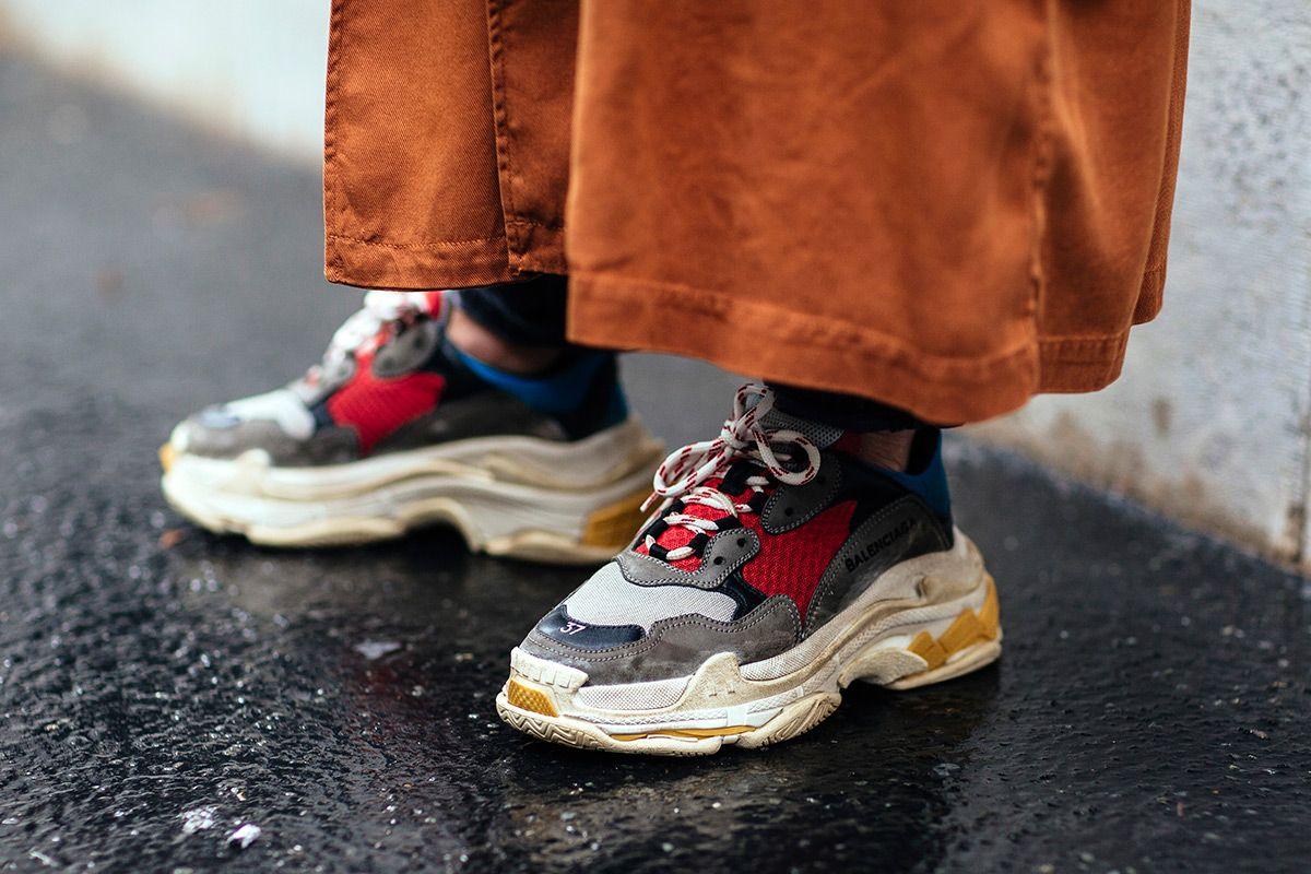 xu hướng giày thể thao - dad shoes - elle man 1