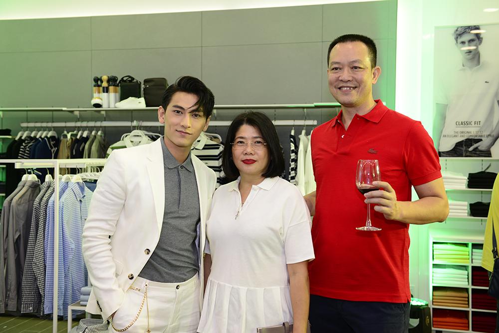 thương hiệu Lacoste Isaac cung ong Tran Quoc Chung ( CEO Lacoste) va Ba Tran Thi Thanh Ha ( Director) - elle man