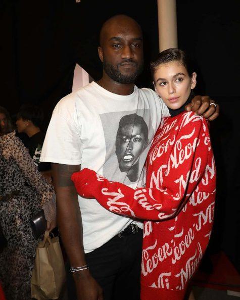Virgil cùng siêu mẫu Kaia Gerber Ảnh: Pierre Suu/Getty Images