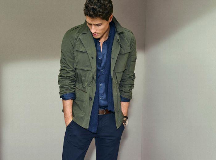 thời trang mua hè - áo field jacket source massimo dutti - elle man 1