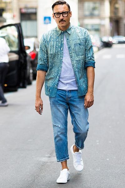 thời trang mua hè - quần jeans source global blue - elle man 1