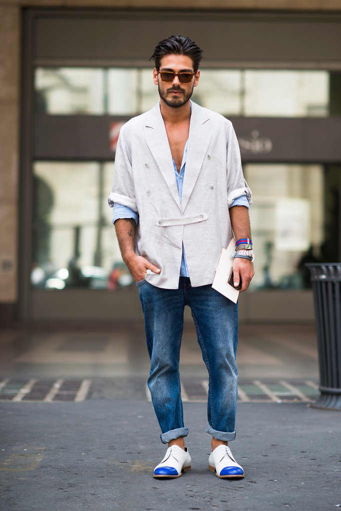 thời trang mua hè - quần jeans source global blue - elle man 2