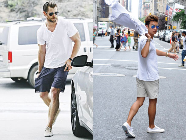 thời trang mua hè - quần shorts source Dmarge - elle man 1